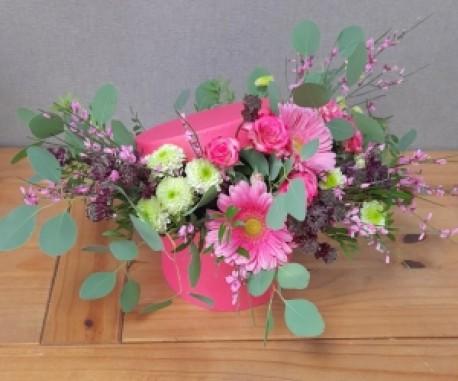 Pink Floral Hat Box